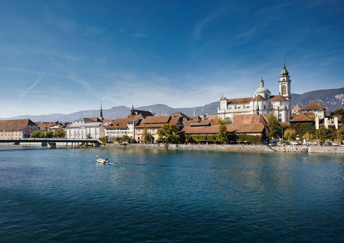 Medienbild Solothurn Aare Silhouette