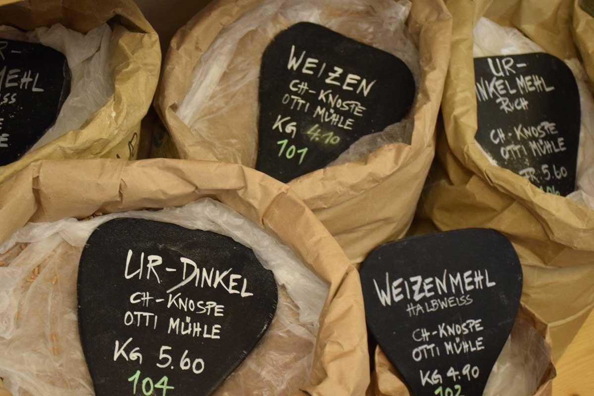 Bioladen Gänterli Solothurn, Getreide Mehl Offenverkauf