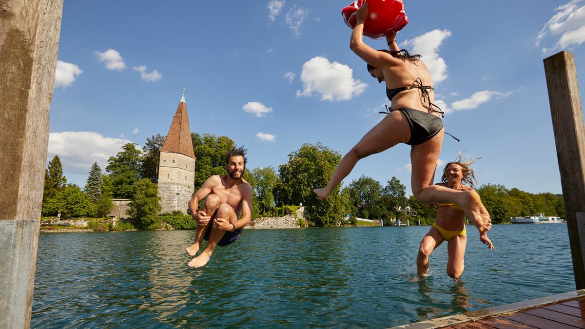 Schwimmen in der Aare Solothurn