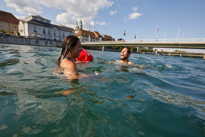 Medienbild Aare Schwimmen Solothurn