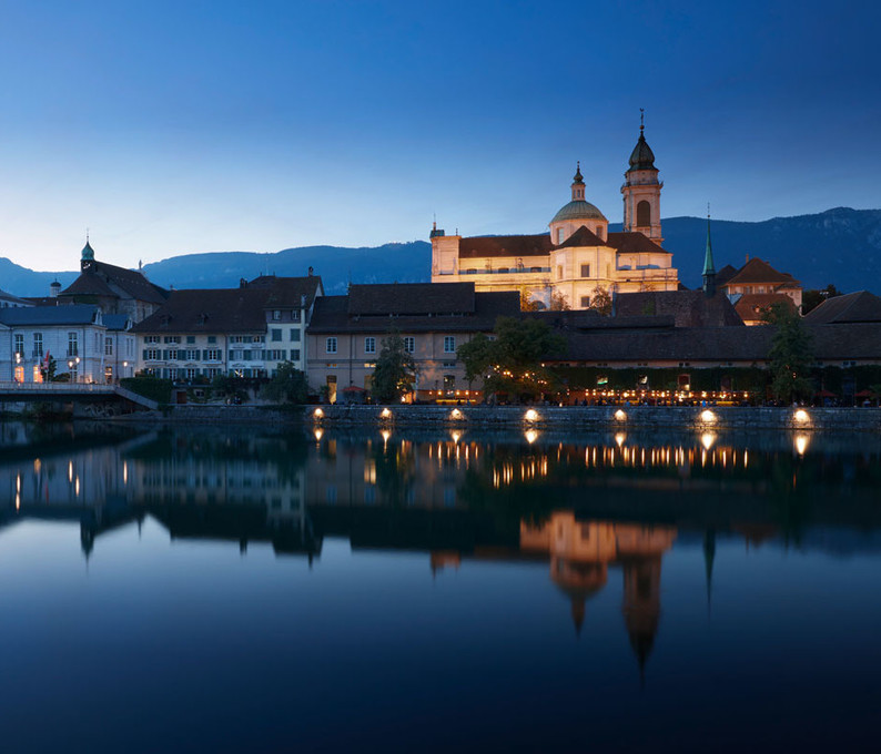 Aare Silhouette Solothurn, Nacht