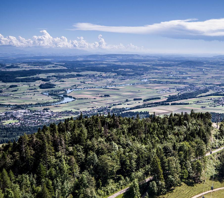 Ausblick von Seilbahn Weissenstein