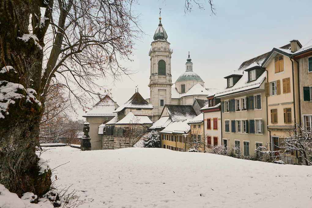 Winter in Solothurn, St. Ursen Kathedrale