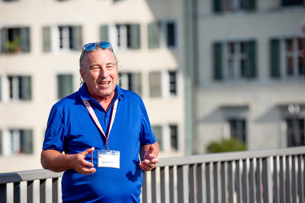 Ernst Wettstein, Stadtführer von Solothurn Tourismus - © Carina Scheuringer