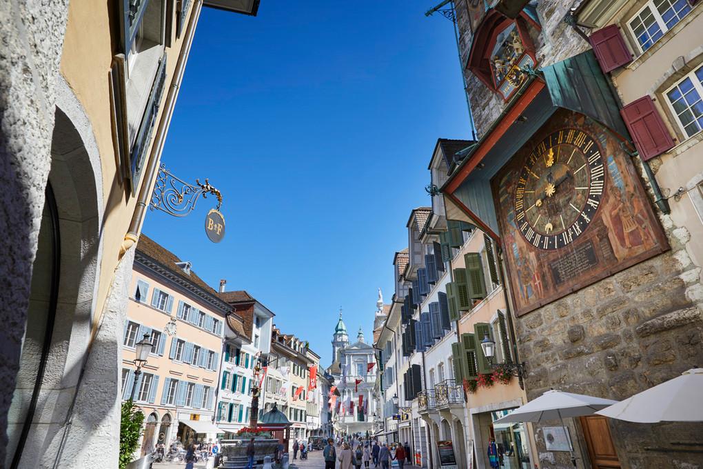 Zeitglockenturm und Hauptgasse Solothurn