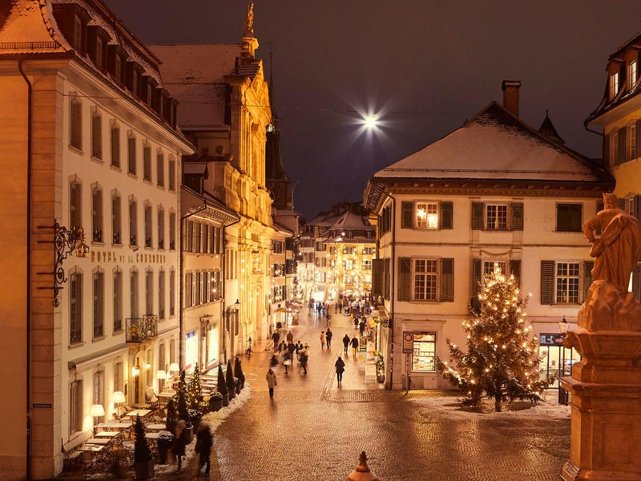 Solothurner Altstadt im Advent
