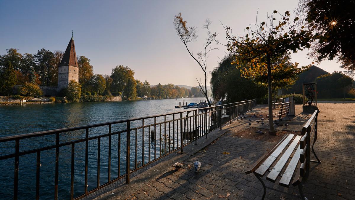 Aare Solothurn im Herbst
