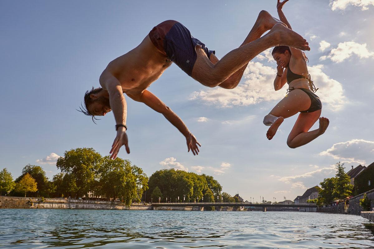 Aare Schwimmen in Solothurn