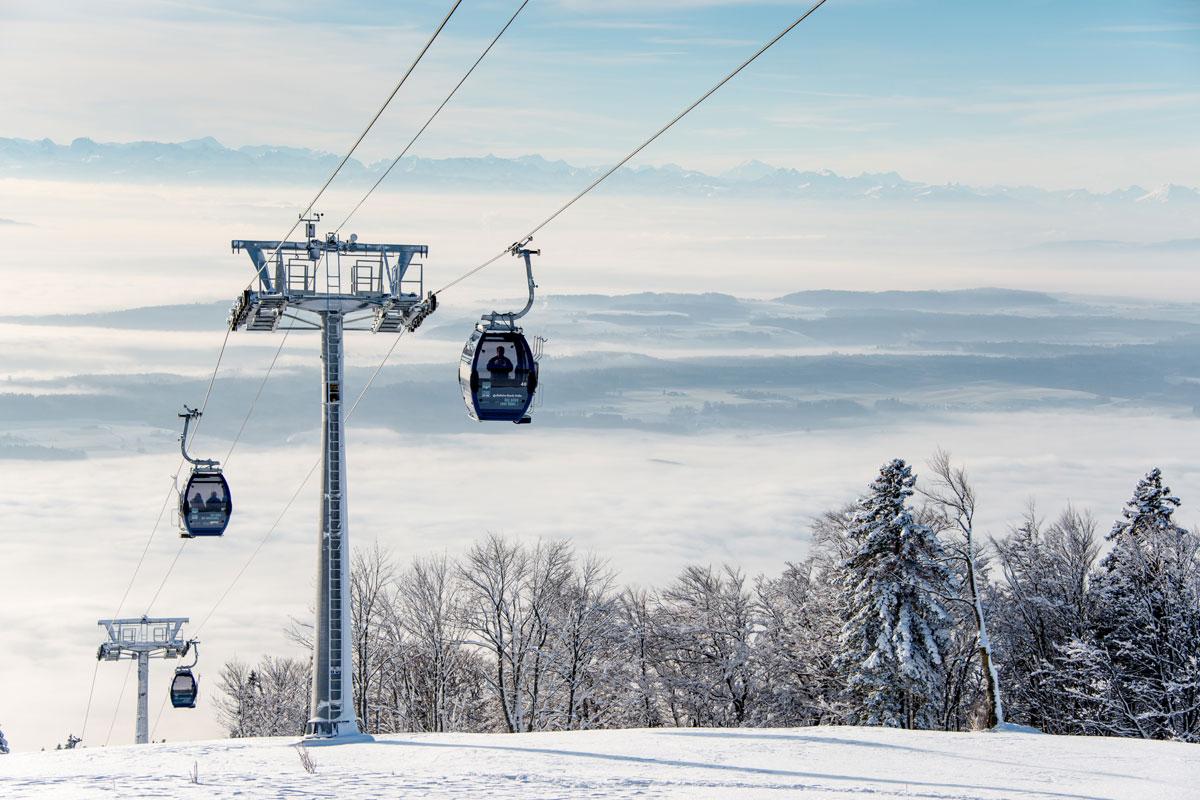 Seilbahn Weissenstein im Winter