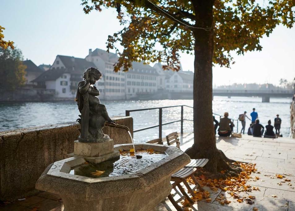 Herbst in Solothurn, Landhausquai
